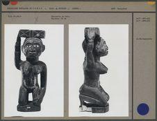 Statuette en bois. Hauteur : 34 cm