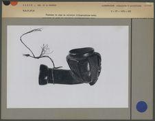 Fourneau de pipe en calcaire lithographique noir