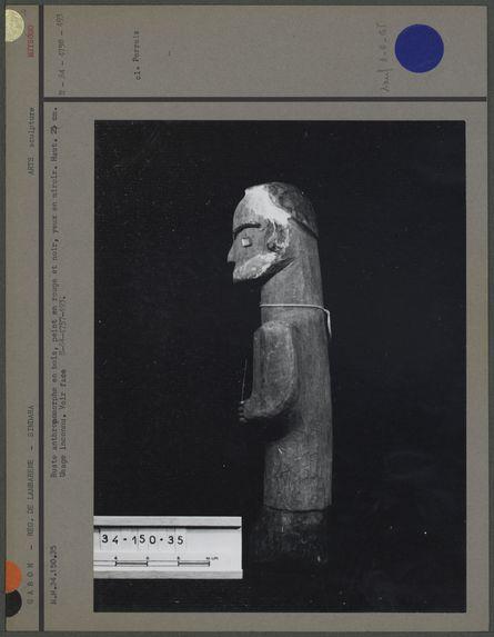 Buste anthropomorphe en bois