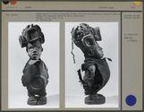"""Statue """"Hoyo"""" magique à double reliquaire"""