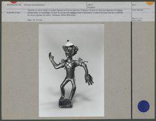 Statuette en cuivre fondu et sculpté figurant un homme