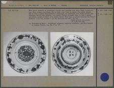 Assiette plate en porcelaine