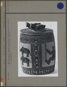 Pot à miel décoré en bois pyrogravé
