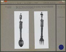 Cuillère sutru et fourchette en bois