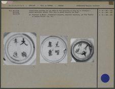 Inscriptions relevées sur céramique