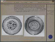 Assiette décorée en porcelaine