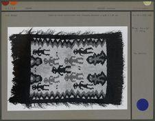 Tapis en laine multicolore avec franges