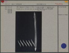Tête composite de harpon, bois et os