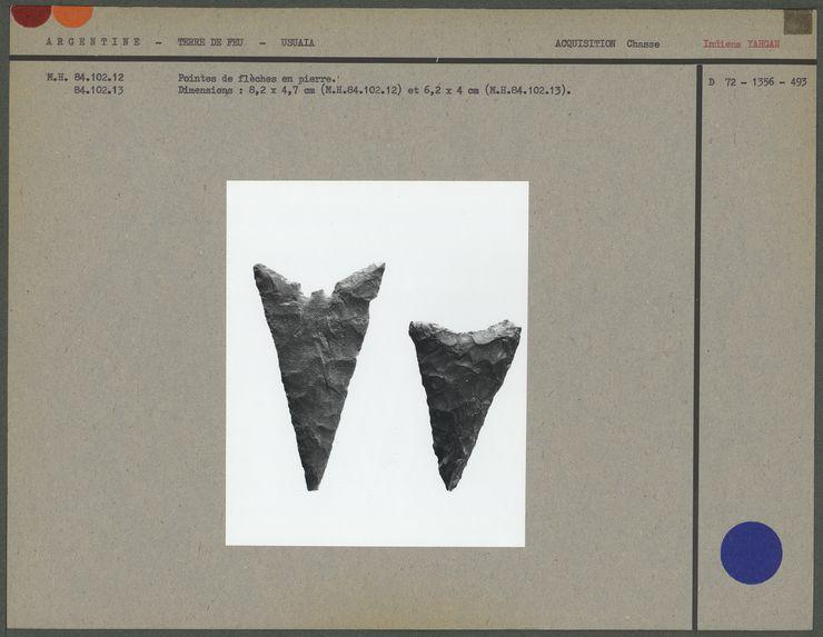 Pointes de flèches en pierre
