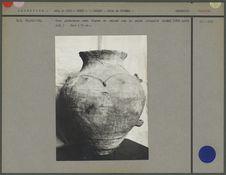 Urne globuleuse avec dessin en relief