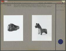 Tête de lama, en céramique