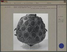 Grand vase polychrome en céramique