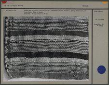 Tissu rayé en laine, armure toile
