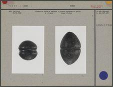 Pierre de bolas à rainure et pierre piquetée et polie
