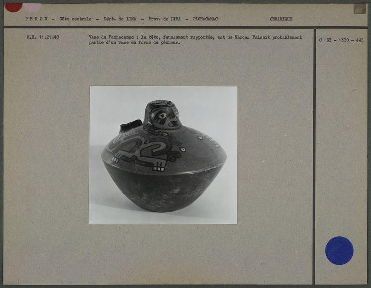 Vase peint, faussement rapportée, de Nazca