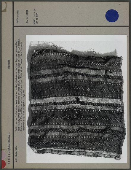 Petit sac en laine avec armature en toile