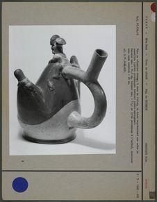 Vase en céramique orange