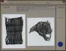 Fragments de tissu de coton