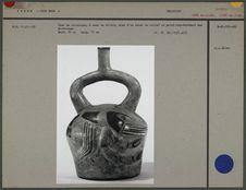 Vase en céramique à anse en étrier : écrevisse