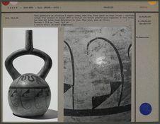 Vase globulaire en céramique à engobe crème