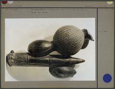 Vase phytomorphe en céramique noire
