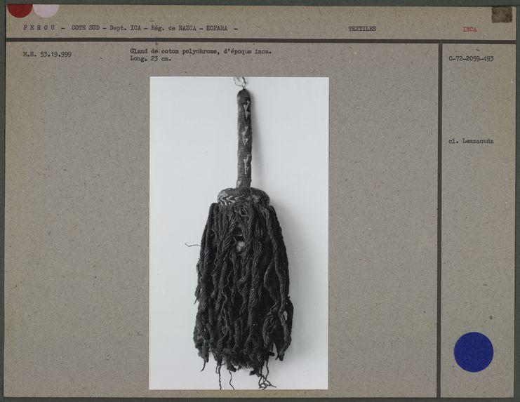 Gland de coton d'époque inca