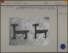 Tissu aux lamas, coton écru brodé