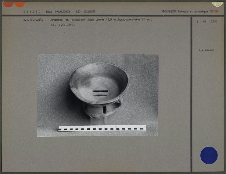 Fourneau en céramique (face interne)