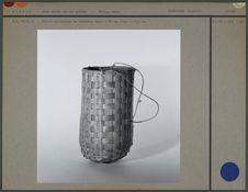 Panier cylindrique en vannerie