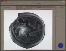 Bol (ébréché) en calebasse, décor peint