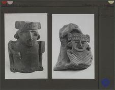 Poterie à offrandes et fragment de poterie chibcha