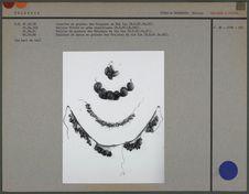 Jambière, collier et ceinture des Orejones du rio Iça et collier Uitoto