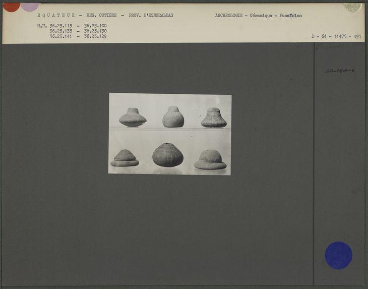 Fusaïoles en céramique