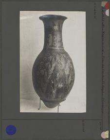 Vase terre décoré