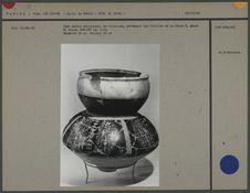 Vase double polychrome en céramique, phase 2