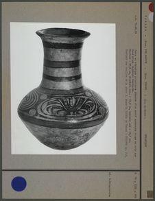 Jarre en céramique polychrome