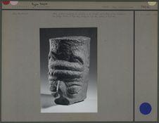 Tête anthropomorphe en pierre