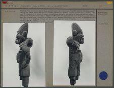 Profils d'une statue en pierre Maya