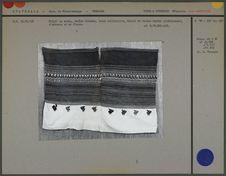 Huipil en coton, chaîne blanche, bandes rayées