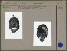 Grelot en cuivre représentant une tête