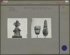 Statuette en céramique, figurations de Tlaloc