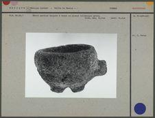 Petit mortier tripode à tenon en pierre