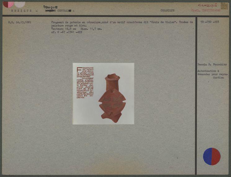 Fragment de poterie en céramique