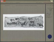 Peau peinte, scène d'une chasse au bison