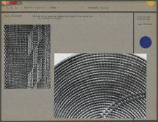 Détails d'une vannerie cordée polychrome