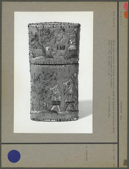 Boîte avec couvercle en écorce de bouleau