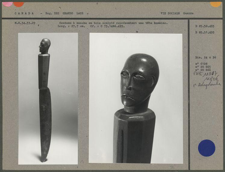 Couteau à manche en bois