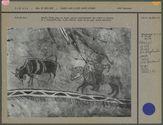 Tunique, peau de bison décorée, détail, cavalier chassant un bison