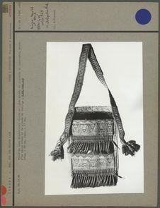 Pochette en bandoulière tissée en laine