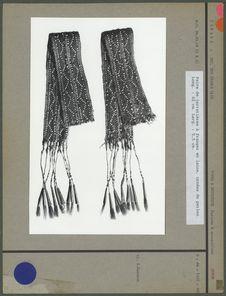 Paire de bandes à franges en laine avec perles